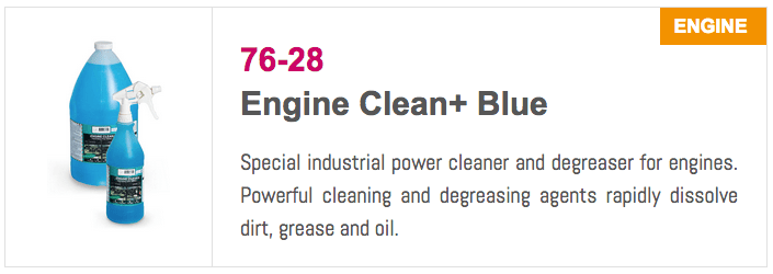 7628 Engine Clean Plus Blue