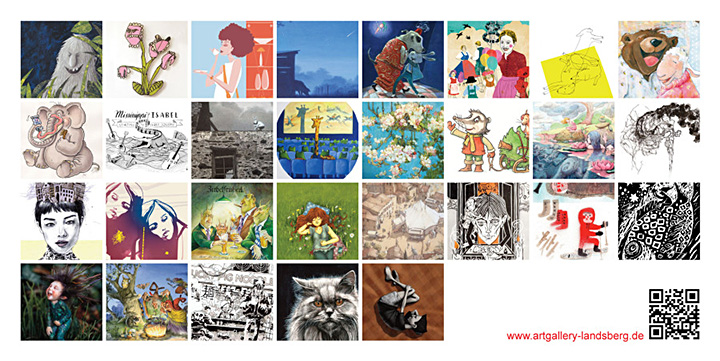 flyer-illustratorenausstellung-analog-digital-animiert
