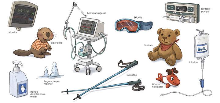 bilderbuch-illustration-vignetten-kinder-krankenhaus
