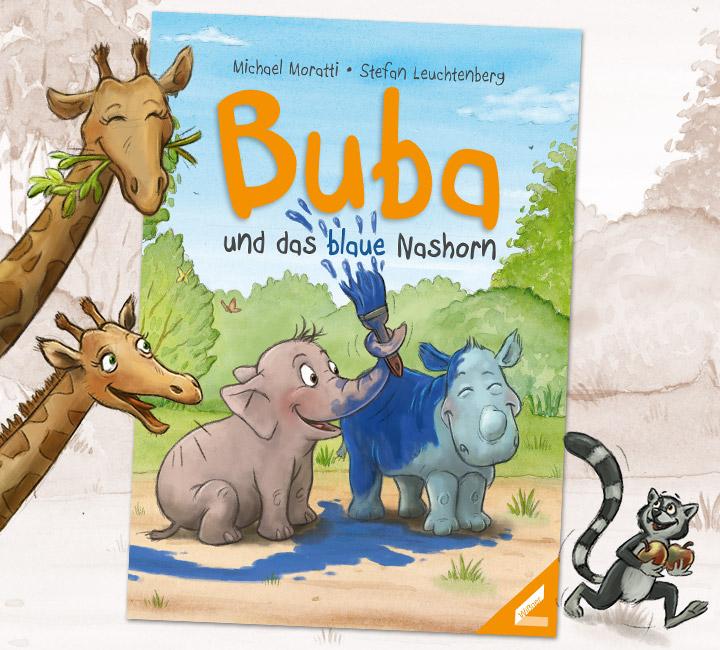 bilderbuch-illustration--buba-und-das-blaue-nashorn--titelseite
