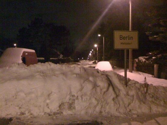 Total verschneites Berlin