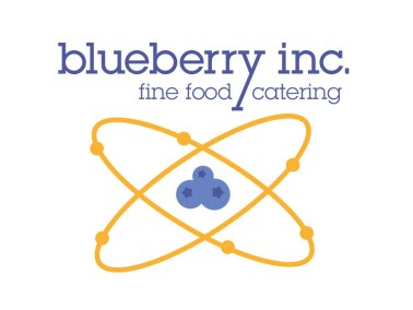 Logo blueberry inc. finefood catering