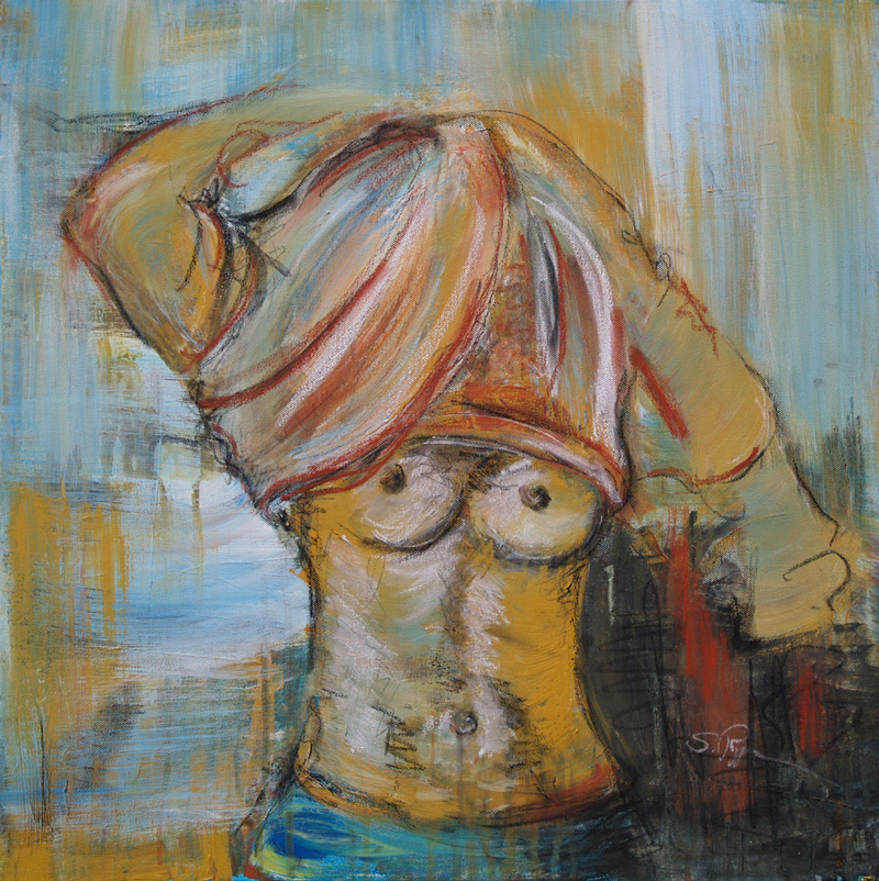 Akt, Acryl auf Leinwand, Malerei Stefanie Rogge
