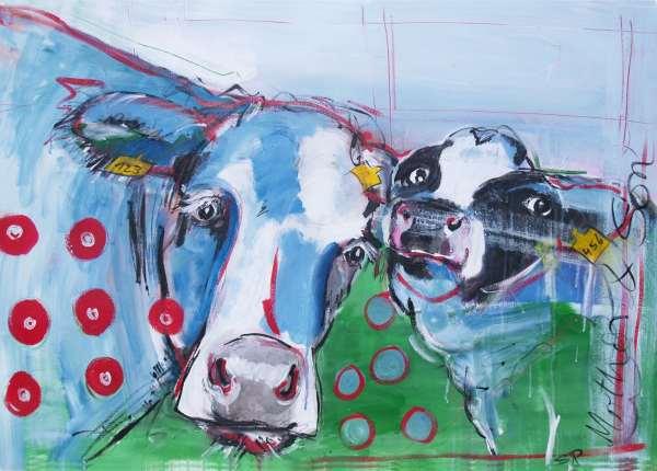 Expressionismus, moderne Malerei, Motiv Mother & Son