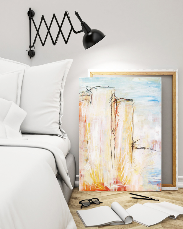 original klint ii abstraktes gem lde atelier stefanie rogge. Black Bedroom Furniture Sets. Home Design Ideas