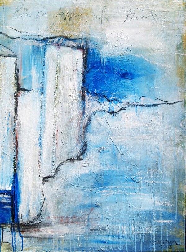 Acrylgemälde collagiert Serie Steilküsten