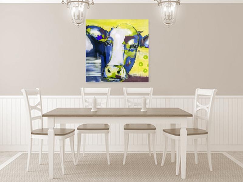Pop Art Kuh, Moderne Malerei