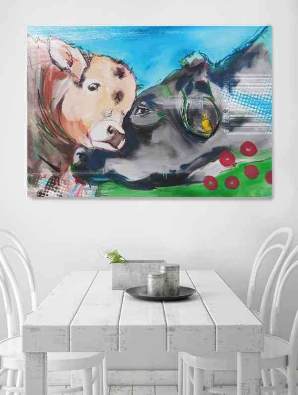 Kuh Bilder auf Leinwand