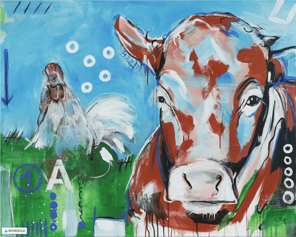 Leinwanddruck Kuh