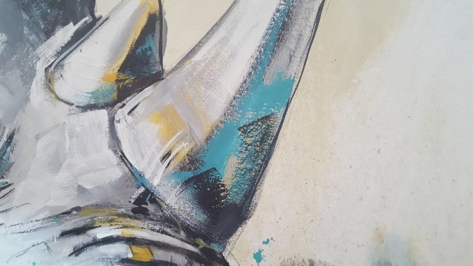 Detail Malerei Nashorn