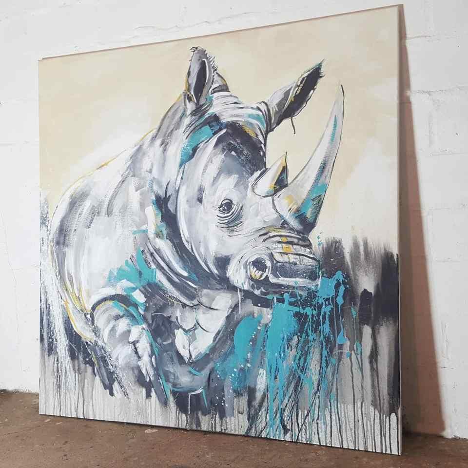 Rhino painting Malerei