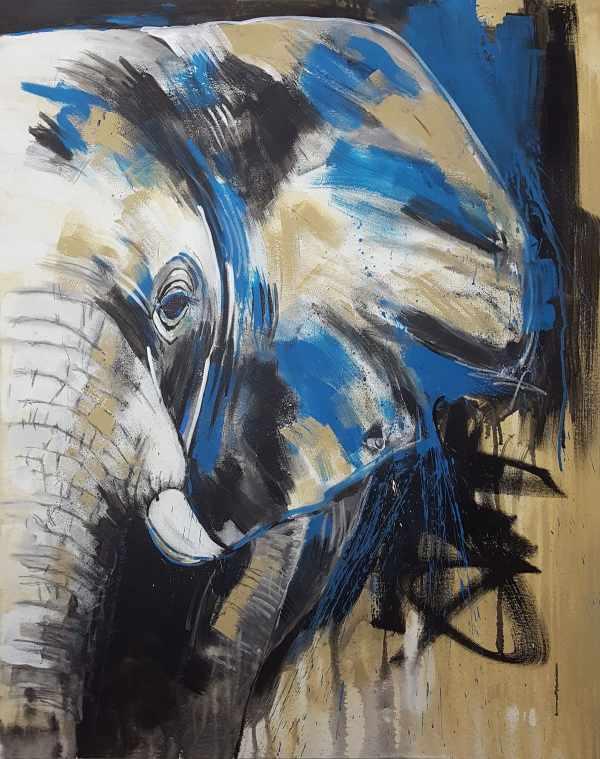 Elefant zeitgenössische Malerei