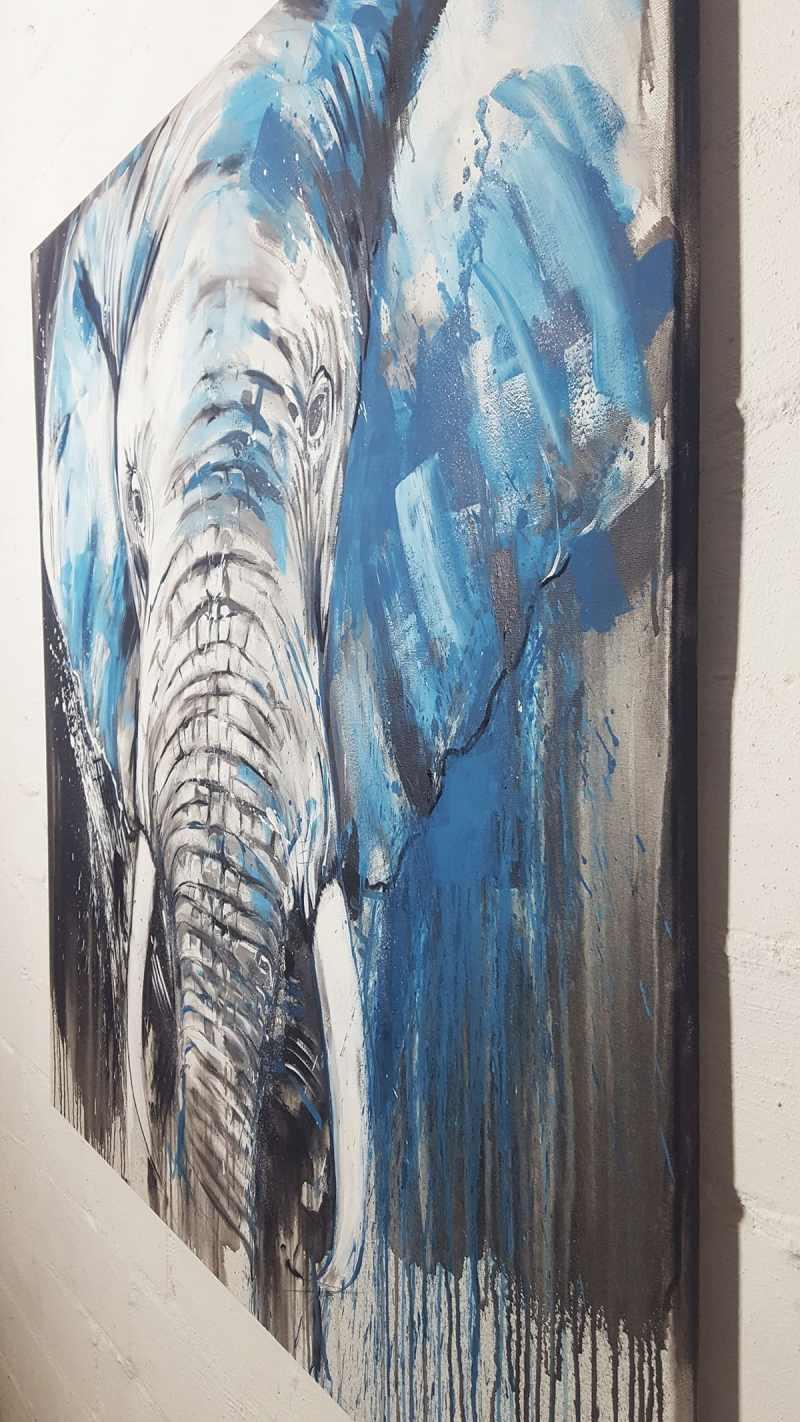 Elefant gemalt
