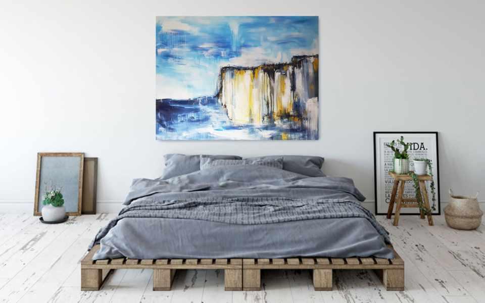 Stefanie Rogge, Malerei Klippen, im Raum