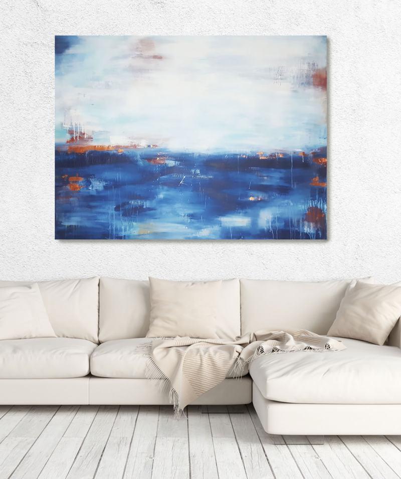 XXL Gemälde, abstrakte Kunst auf Leinwand, von Stefanie Rogge,