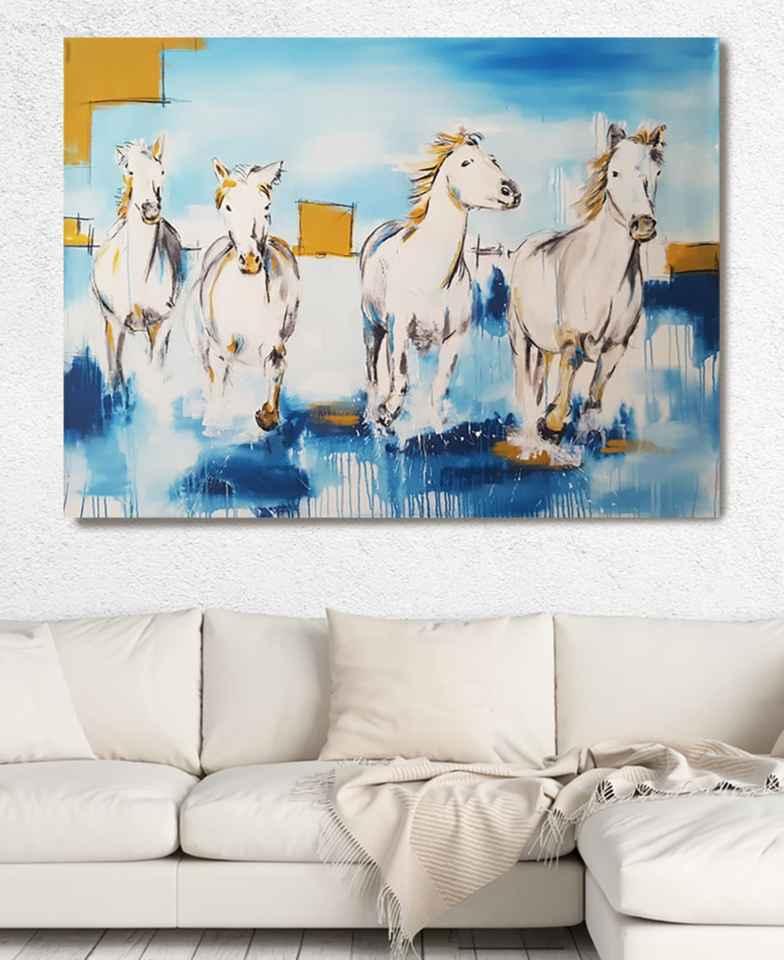 Stefanie rogge: Camargue Pferde auf XXL Leinwand