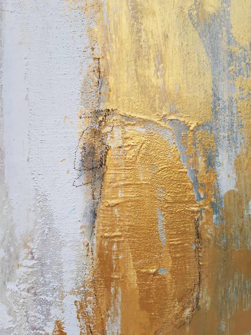 Original abstraktes Gemälde, strukturiert, in den Farben von Küste und Meer, Colorfield, von Stefanie Rogge