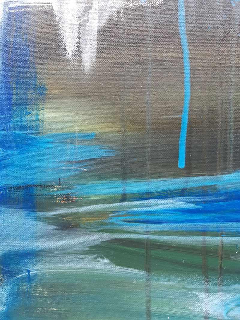 Detail NACH DER EBBE KOMMT DIE FLUT -abstraktes Unikat von Künstlerin Stefanie Rogge, abstrakt, Küstenlandschaft, maritim , modern ** direkt im Atelier kaufen