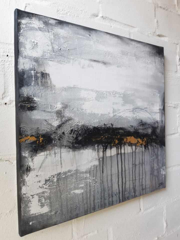Kunst kaufen: abstrakte Malerei monochrom