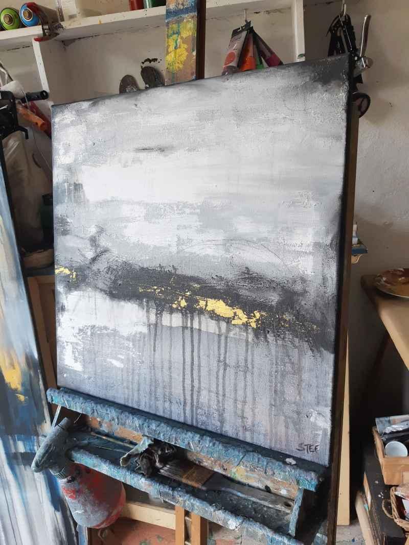 Kunst im Atelier von Stefanie Rogge