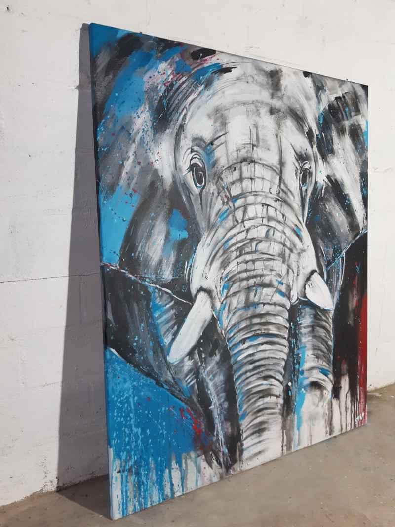 Unikat Elefantenkopf von Stefanie Rogge
