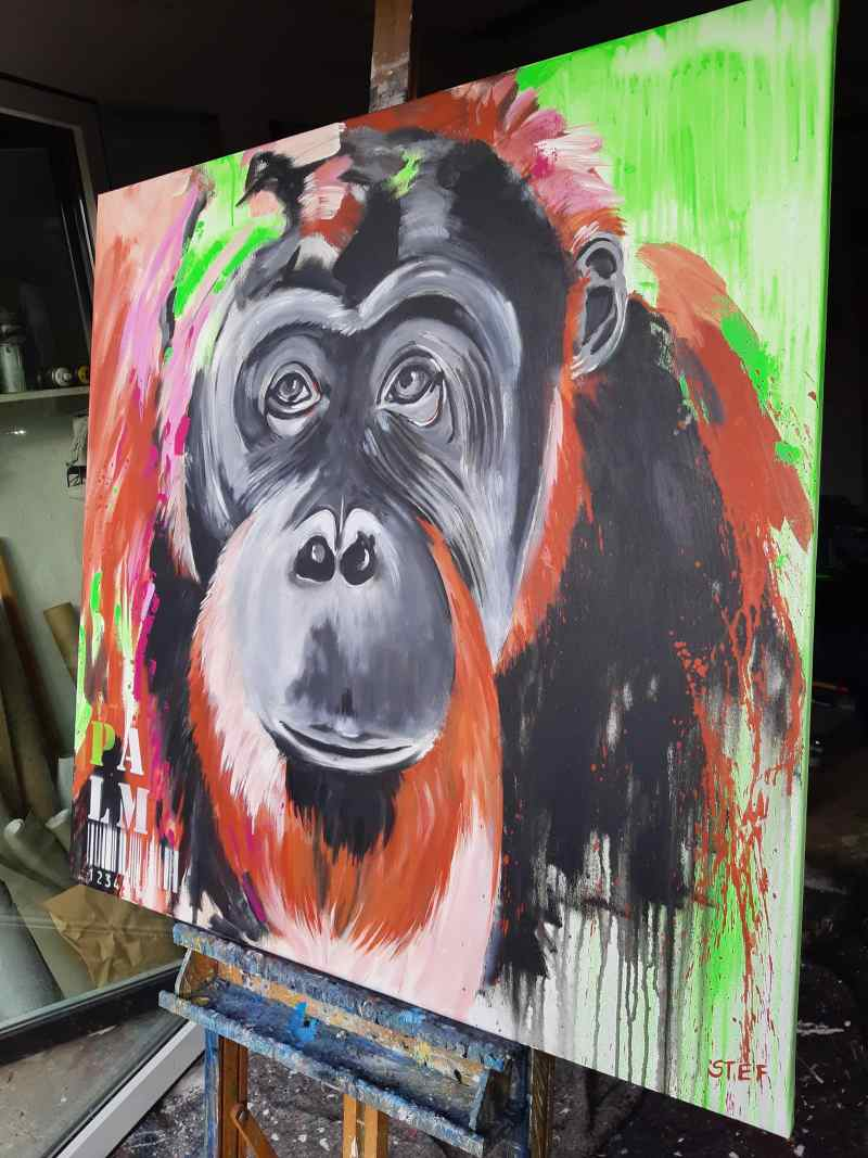 Orang Utan zeitgenössisches Gemälde