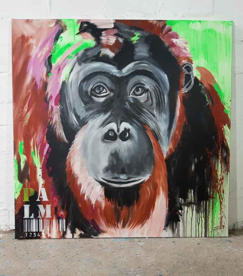 Pop Art Affe Orang Utan Gemälde