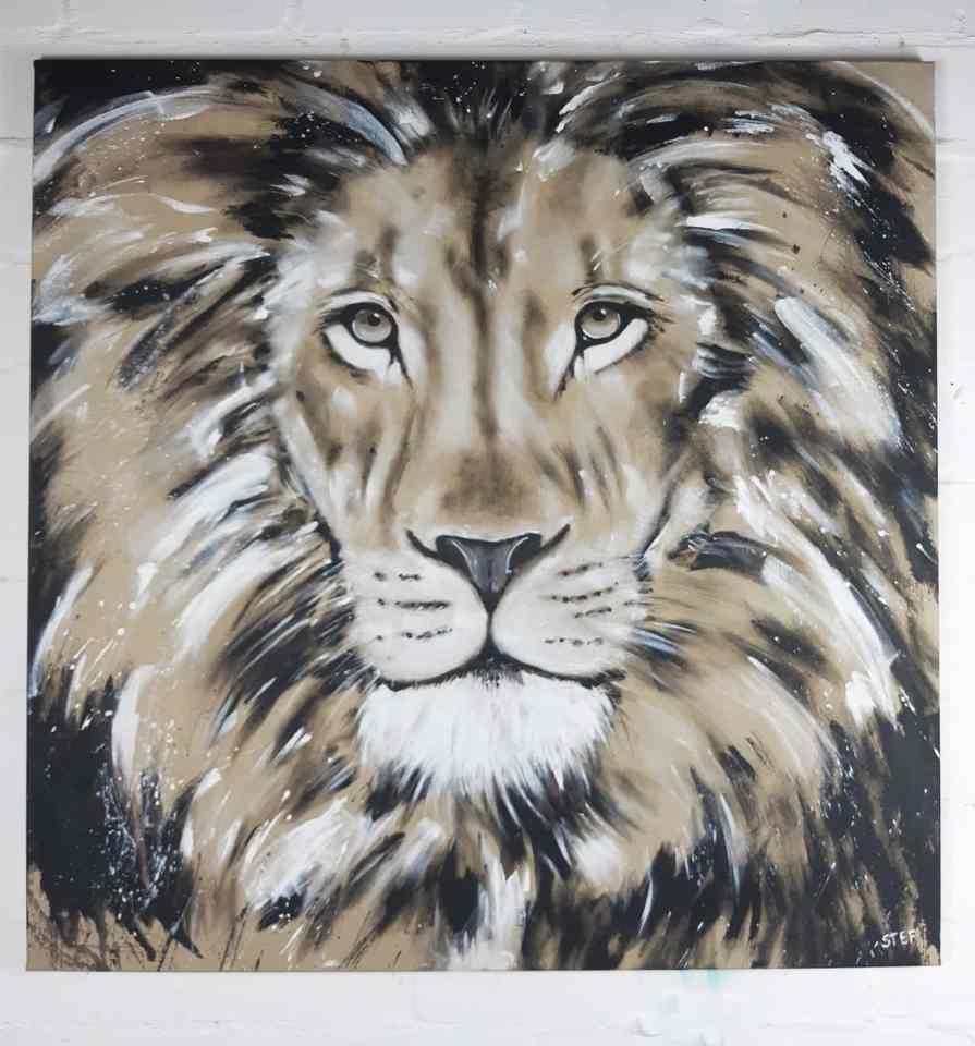 Gemälde Löwenkopf