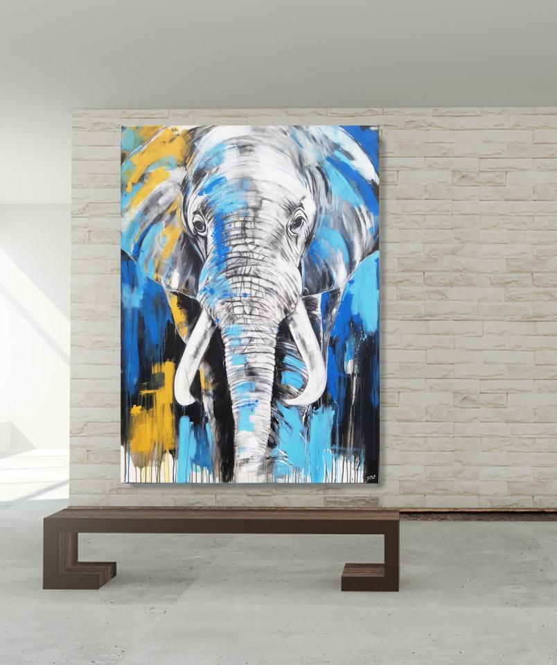 Elefant XXL Gemälde