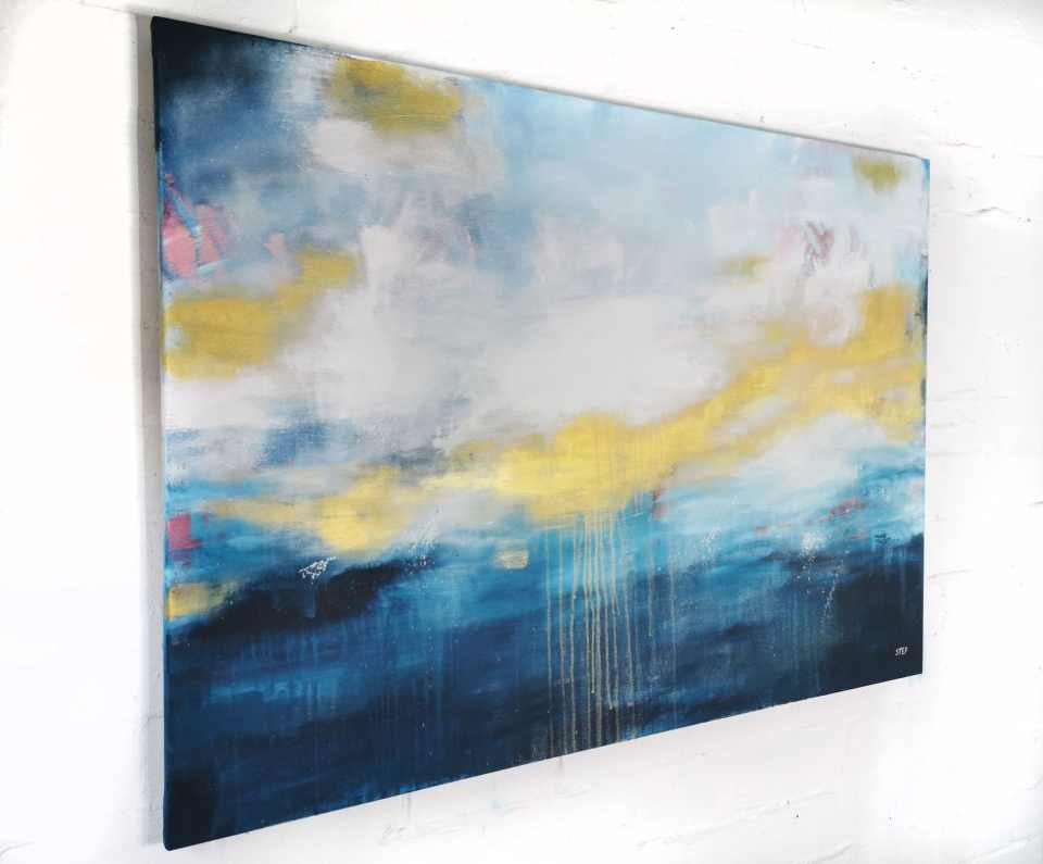 großes Gemälde modern