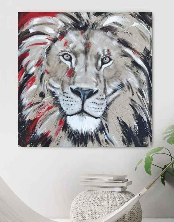 Löwenkopf, Löwe, Gemälde