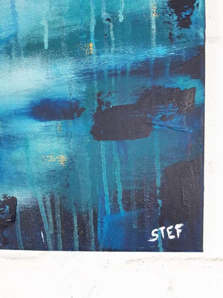 abstrakte Kunst Blau