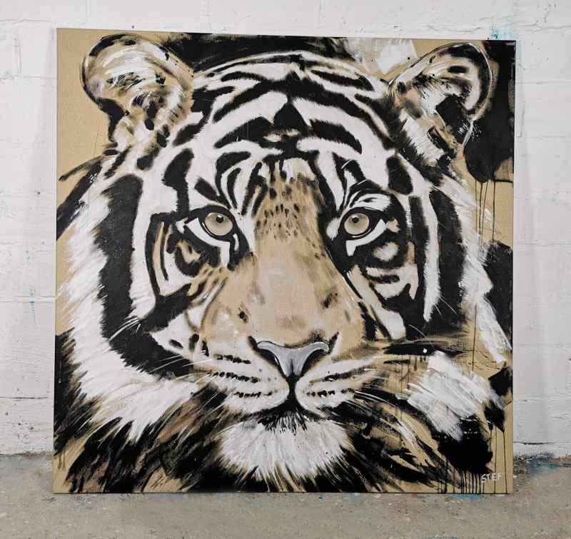 Original Gemälde Tiger #5