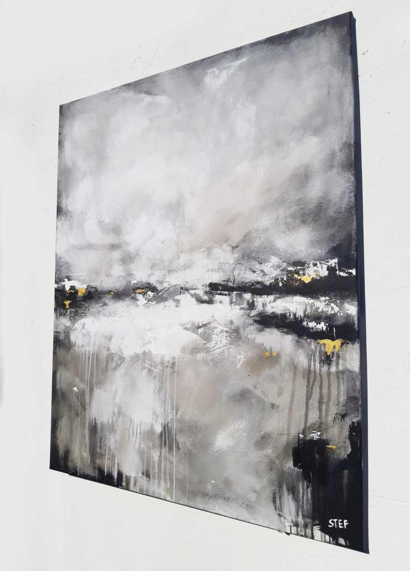 monochrom abstrakt Gemälde