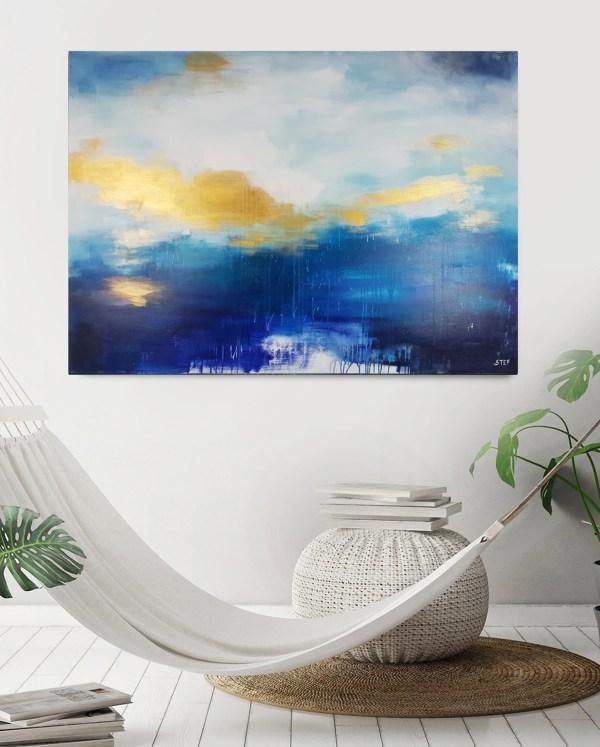XXL Gemälde abstrakt auf Leinwand