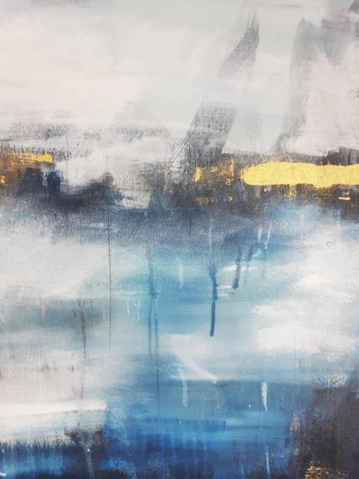 Abstrakte Malerei in Blau