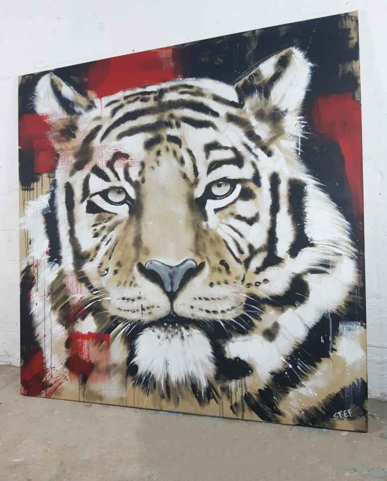 Tigerkopf Malerei