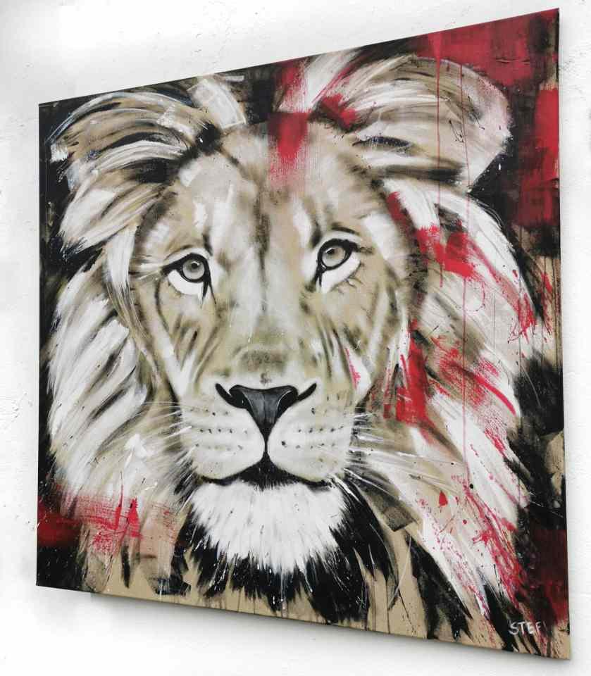 Löwe Gemälde Unikat