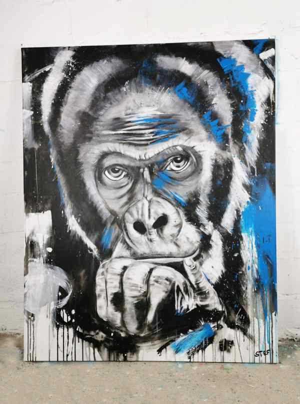 Gorilla Kopf