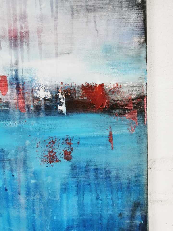 Abstraktes Gemälde Blau