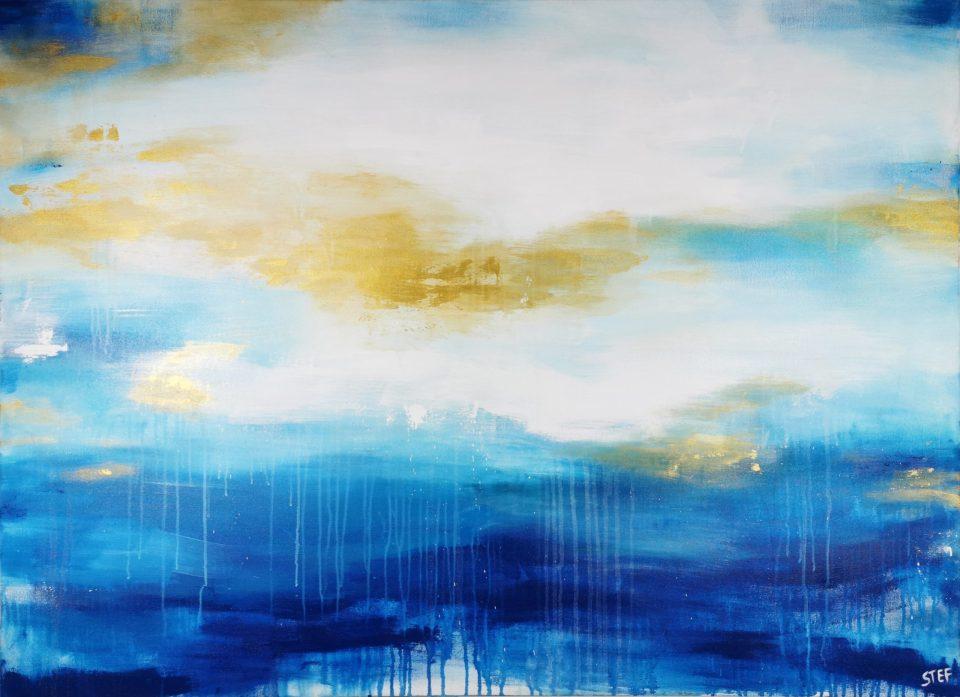 xxl Gemälde abstrakt Meer