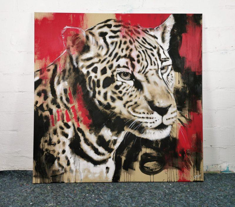 Original Wandbild Leopard