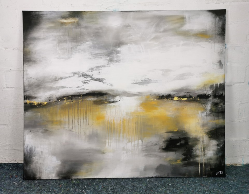 Original Gemälde Grau