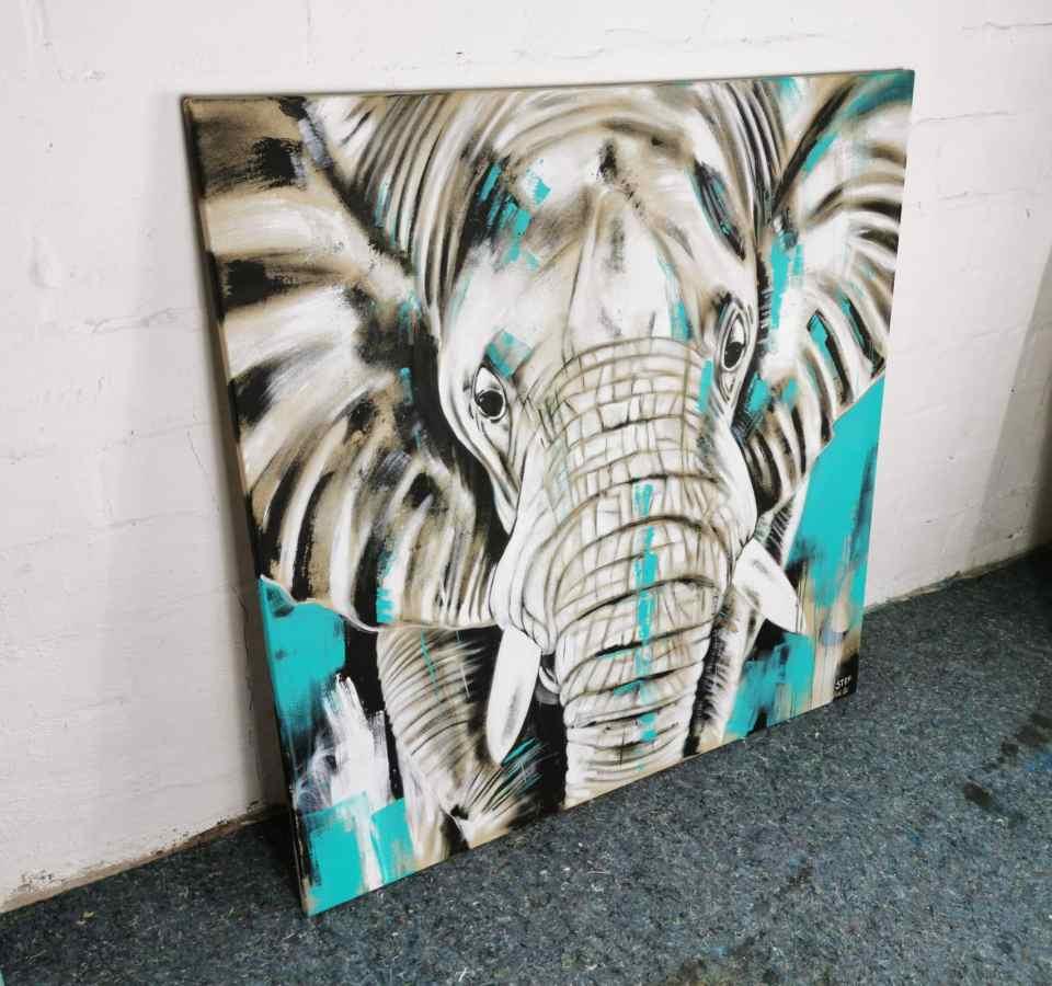 Elefant Leinwandbild modern