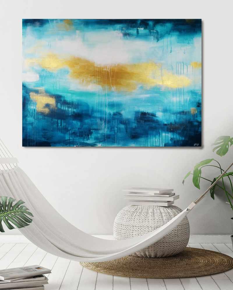 Abstrakt Gemälde Meer