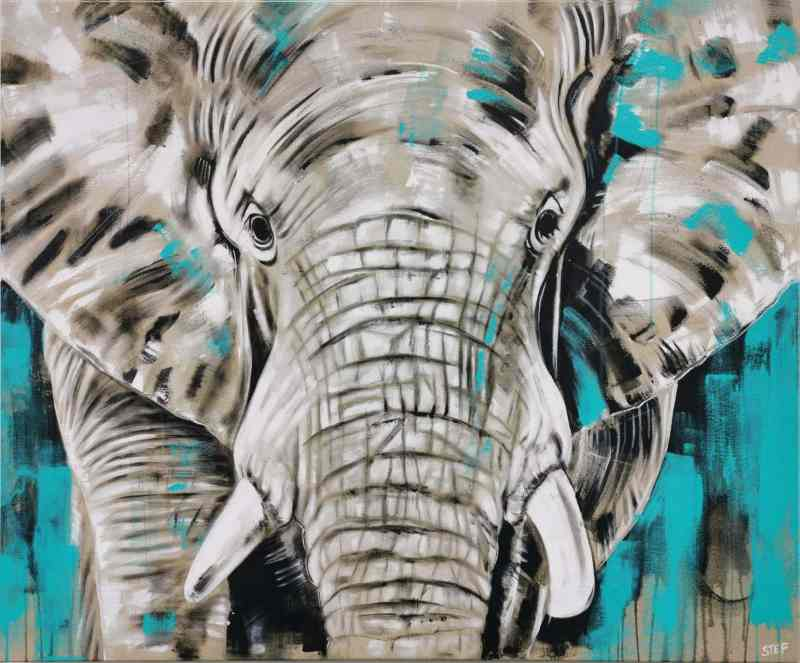 Elefant großes Leinwandbild modern