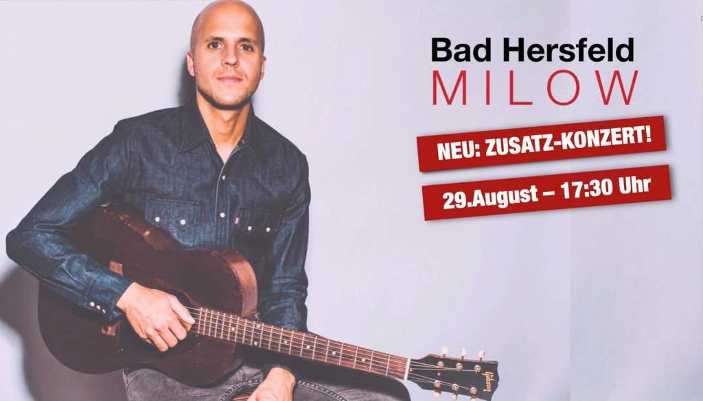 Milow Zusatzkonzert Festspiele in Concert Artist Relations Manager stefan Lohmann