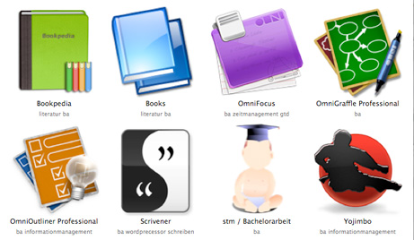 Screenshot der Software, die ich für die Bachelorarbeit verwende