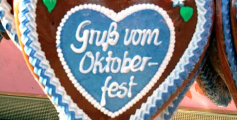 Lebkuchenherz: Gruss vom Oktoberfest