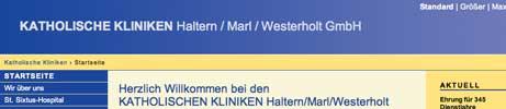 Katholische Kliniken Haltern/Marl/Westerholt